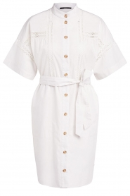 Set |  Broderie dress with matching waistbelt Mia | white  | Picture 1