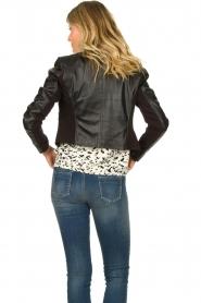STUDIO AR BY ARMA |  Short leather biker jacket Gaga | black  | Picture 6