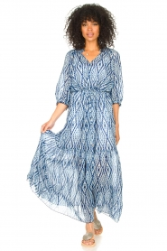 Set |  Maxi dress with tie dye print Lee | blue  | Picture 4