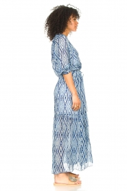 Set |  Maxi dress with tie dye print Lee | blue  | Picture 6