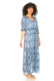 Set |  Maxi dress with tie dye print Lee | blue  | Picture 5