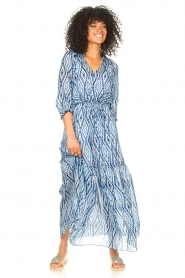 Set |  Maxi dress with tie dye print Lee | blue  | Picture 3