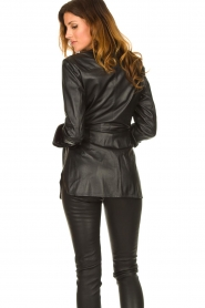 STUDIO AR BY ARMA |  Leather wrap top Hope | black  | Picture 7