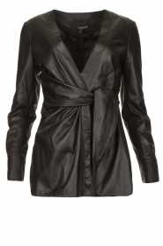 STUDIO AR BY ARMA |  Leather wrap top Hope | black  | Picture 1