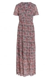 Set |  Maxi dress with floral print Erica | red  | Picture 1