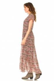 Set |  Maxi dress with floral print Erica | red  | Picture 5