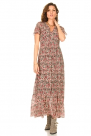 Set |  Maxi dress with floral print Erica | red  | Picture 2