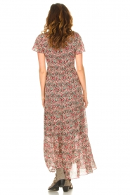 Set |  Maxi dress with floral print Erica | red  | Picture 6