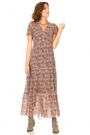 Set |  Maxi dress with floral print Erica | red  | Picture 4