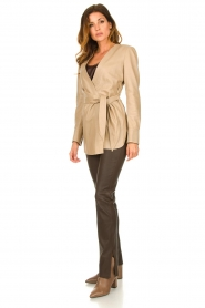 STUDIO AR BY ARMA |  Leather wrap top Hope | beige  | Picture 3