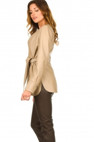 STUDIO AR BY ARMA |  Leather wrap top Hope | beige  | Picture 6