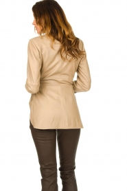 STUDIO AR BY ARMA |  Leather wrap top Hope | beige  | Picture 7