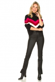 STUDIO AR BY ARMA :  Leather pants with side split Evita | black - img3