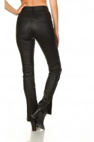 STUDIO AR BY ARMA :  Leather pants with side split Evita | black - img6