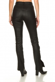 STUDIO AR BY ARMA :  Leather pants with side split Evita | black - img7