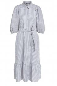 Set |  Gestreepte midi dress Ceejay | blue  | Picture 1