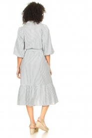 Set |  Gestreepte midi dress Ceejay | blue  | Picture 7