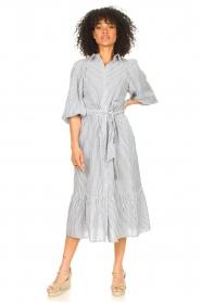 Set |  Gestreepte midi dress Ceejay | blue  | Picture 6