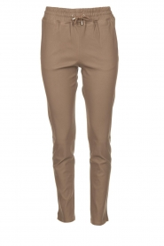 Leather pants Naomi | taupe
