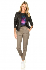STUDIO AR BY ARMA |  Leather pants Naomi | taupe  | Picture 2