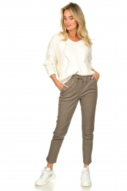 STUDIO AR BY ARMA |  Leather pants Naomi | taupe  | Picture 3