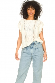 Set |  Knitted sleeveless sweater Iris | natural  | Picture 7