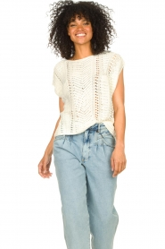 Set |  Knitted sleeveless sweater Iris | natural  | Picture 4