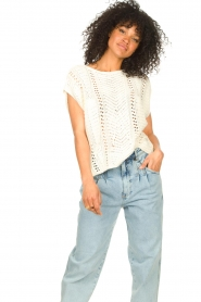 Set |  Knitted sleeveless sweater Iris | natural  | Picture 5