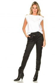 STUDIO AR BY ARMA | Leather pants Naomi | black  | Picture 2