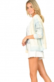 Set |  Knitted cardigan with ombre print Day | blue  | Picture 6
