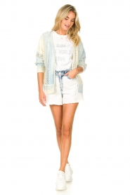 Set |  Knitted cardigan with ombre print Day | blue  | Picture 3