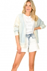 Set |  Knitted cardigan with ombre print Day | blue  | Picture 4