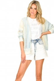 Set |  Knitted cardigan with ombre print Day | blue  | Picture 5