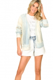 Set |  Knitted cardigan with ombre print Day | blue  | Picture 2