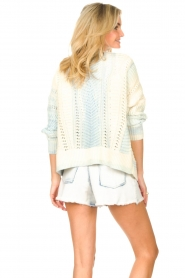 Set |  Knitted cardigan with ombre print Day | blue  | Picture 7