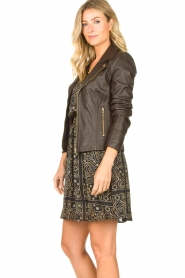 STUDIO AR BY ARMA | Leather biker jacket Kendall | brown  | Picture 6
