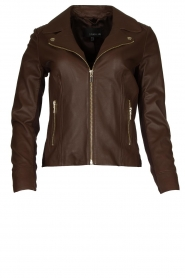 STUDIO AR BY ARMA | Leather biker jacket Kendall | brown  | Picture 1