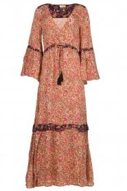 Hipanema |  Floral maxi dress Bonheur | pink  | Picture 1