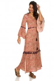 Hipanema |  Floral maxi dress Bonheur | pink  | Picture 4