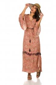 Hipanema |  Floral maxi dress Bonheur | pink  | Picture 3