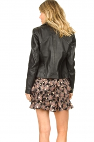 STUDIO AR BY ARMA :  Leather biker jacket Cherry | black - img7