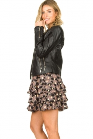 STUDIO AR BY ARMA :  Leather biker jacket Cherry | black - img6