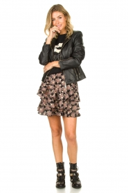 STUDIO AR BY ARMA :  Leather biker jacket Cherry | black - img3