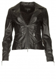 STUDIO AR BY ARMA |  Leather biker jacket Bebe | black  | Picture 1