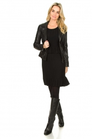 STUDIO AR BY ARMA |  Leather biker jacket Bebe | black  | Picture 3