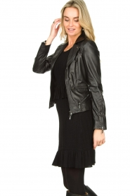 STUDIO AR BY ARMA |  Leather biker jacket Bebe | black  | Picture 6