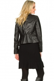 STUDIO AR BY ARMA |  Leather biker jacket Bebe | black  | Picture 7