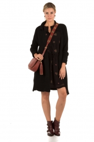 Antik Batik | Jurk Margaux | zwart  | Afbeelding 3
