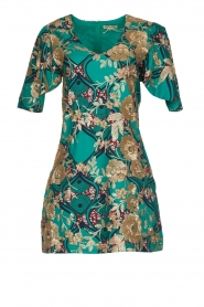 Hipanema |  Printed dress with glitter sequins Bangui | green  | Picture 1