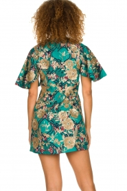 Hipanema |  Printed dress with glitter sequins Bangui | green  | Picture 6